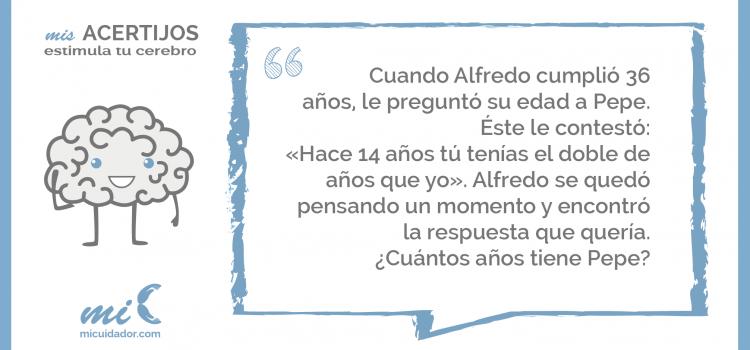 Acertijo «El cumpleaños de Alfredo»