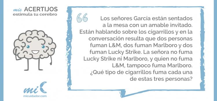 Enigma «¿Quién fuma qué?»
