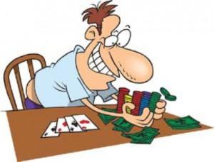 Dibujo jugador poker