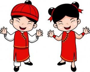Dibujo de niños chinos