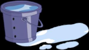 Dibujo de cubo de agua